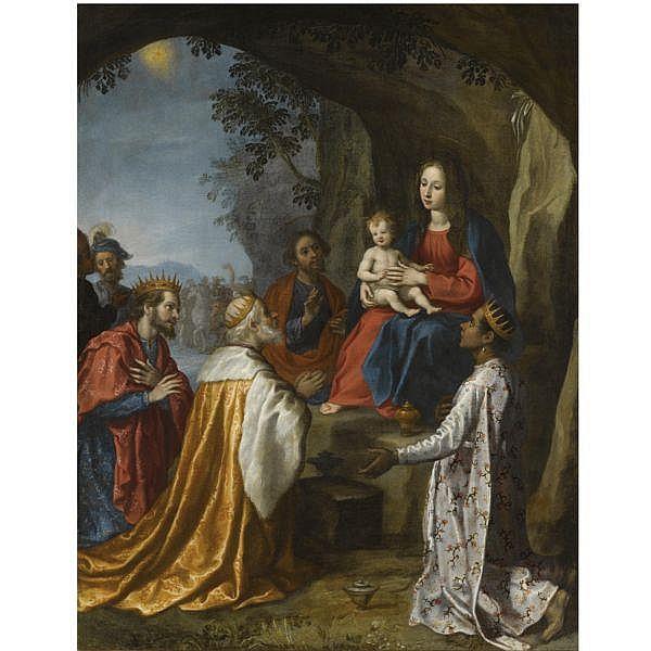 Francesco Curradi , Florence 1570 - 1661 The Adoration of the Magi oil on canvas