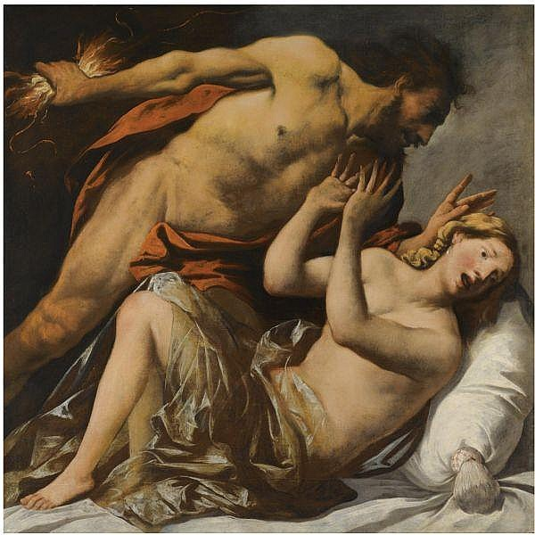 Pietro della Vecchia , Venice or Vicenza 1602/3 - 1678 Venice Jupiter and Semele oil on canvas