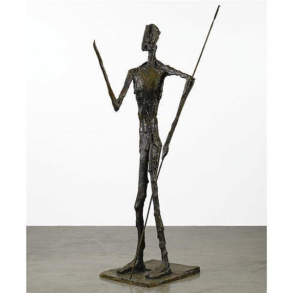 - Germaine Richier , 1904 - 1959 Don Quichotte patinated bronze