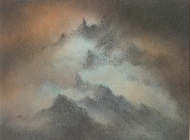 WUCIUS WONG B.1936 | MOUNTAINS AND CLOUDS XVI