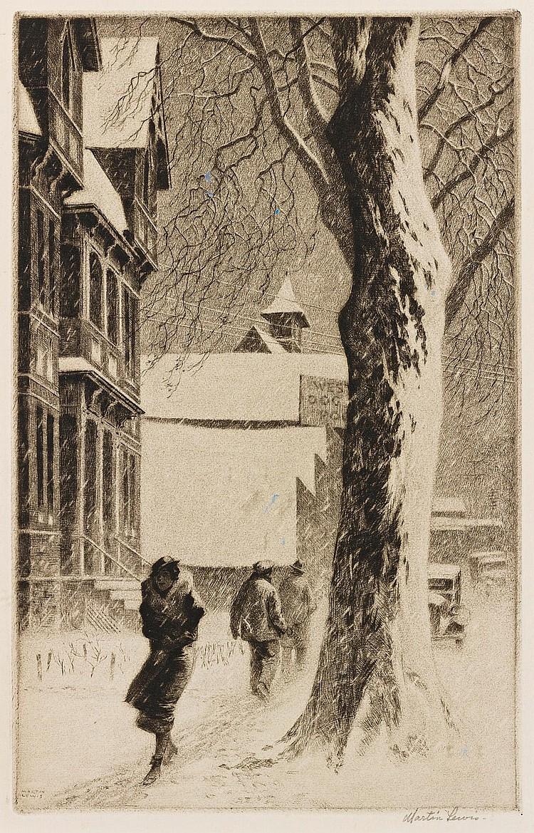 MARTIN LEWIS | Winter on White Street (M. 110)