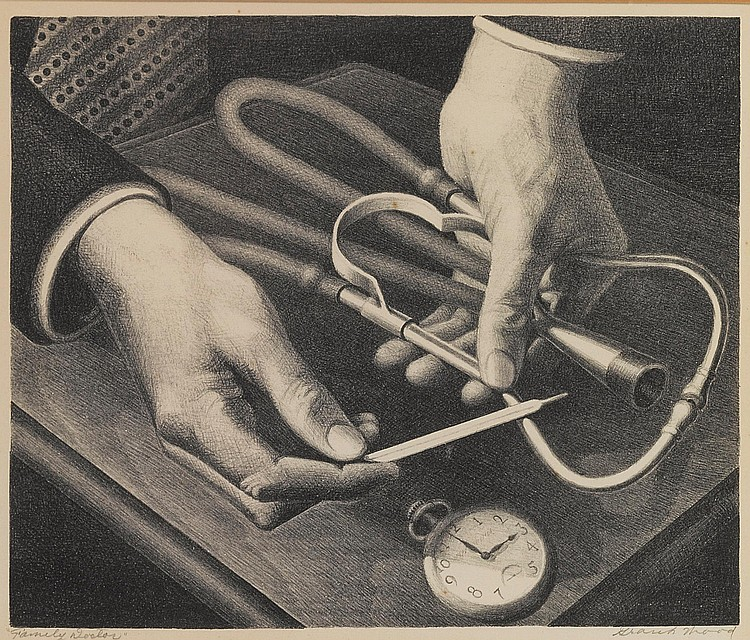 GRANT WOOD | Family Doctor (Cole 179)