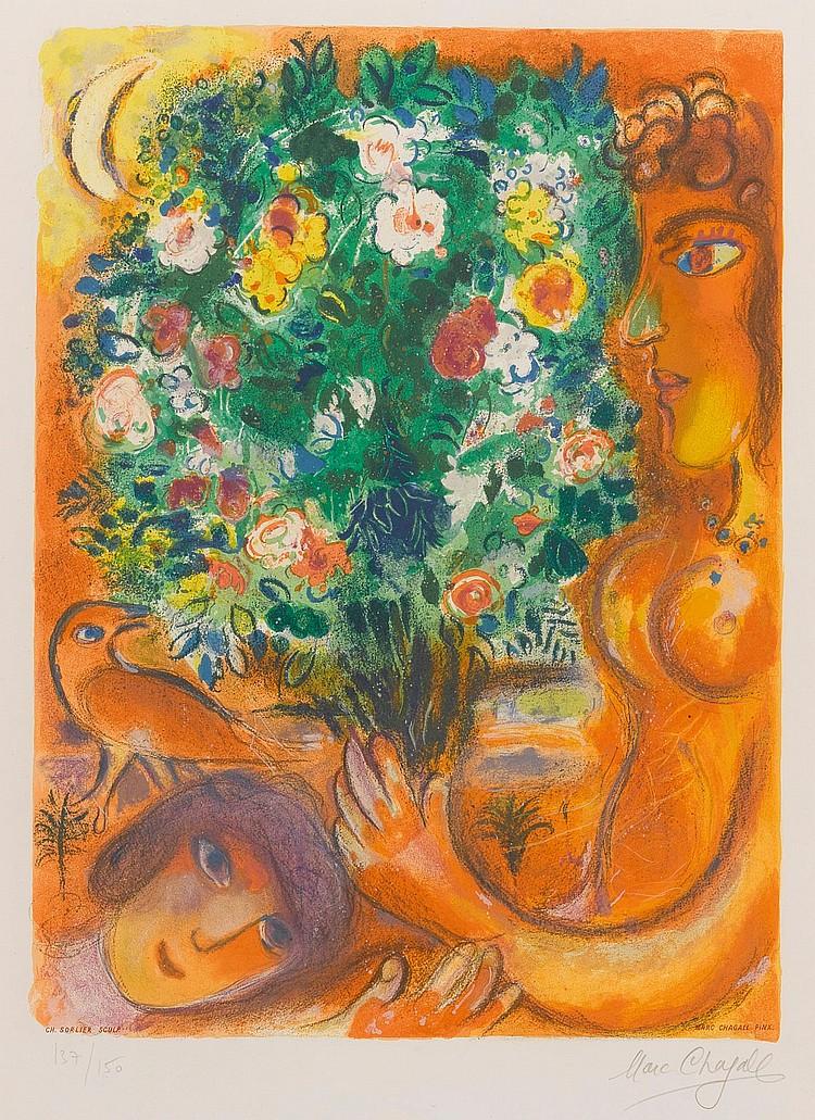 CHARLES SORLIER AFTER MARC CHAGALL | Femme au bouquet (M. CS 37)