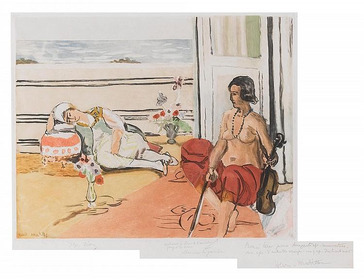 JACQUES VILLON AFTER HENRI MATISSE | Odalisque sur la terrasse (D. I)