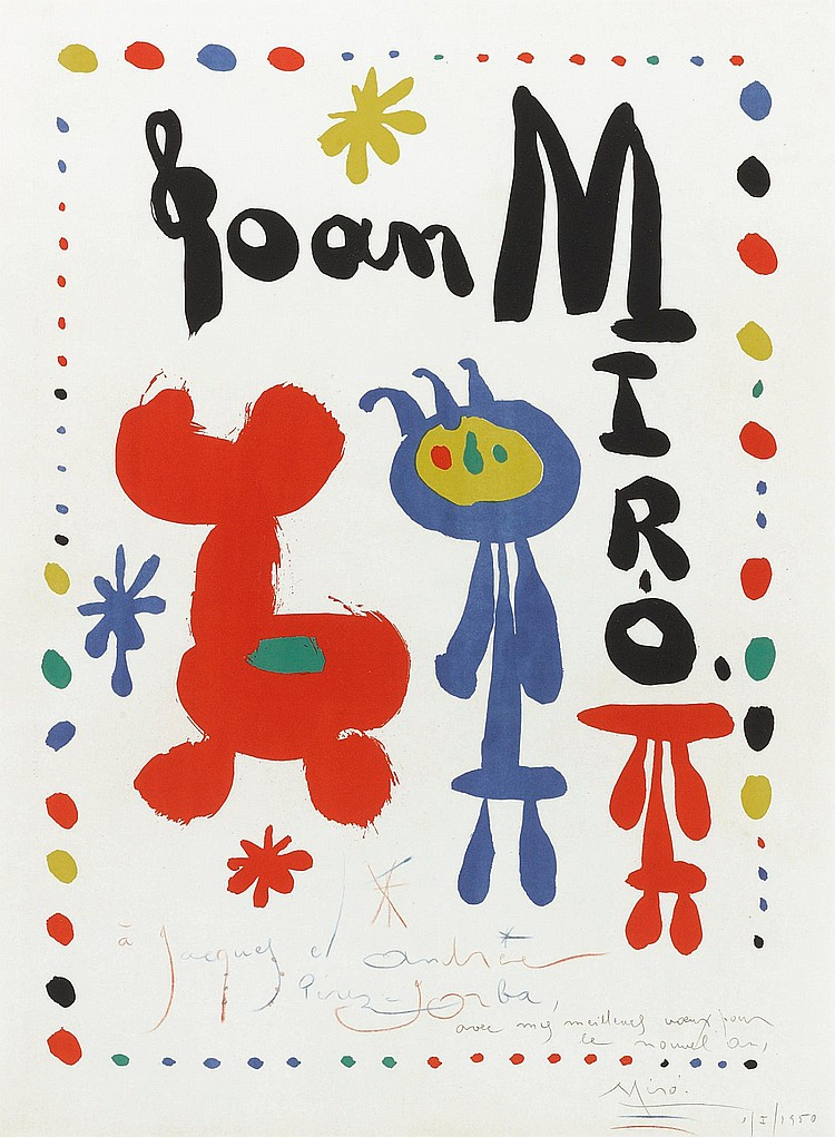 JOAN MIRÓ | Poster for Exhibition of 1948 (M. 67)