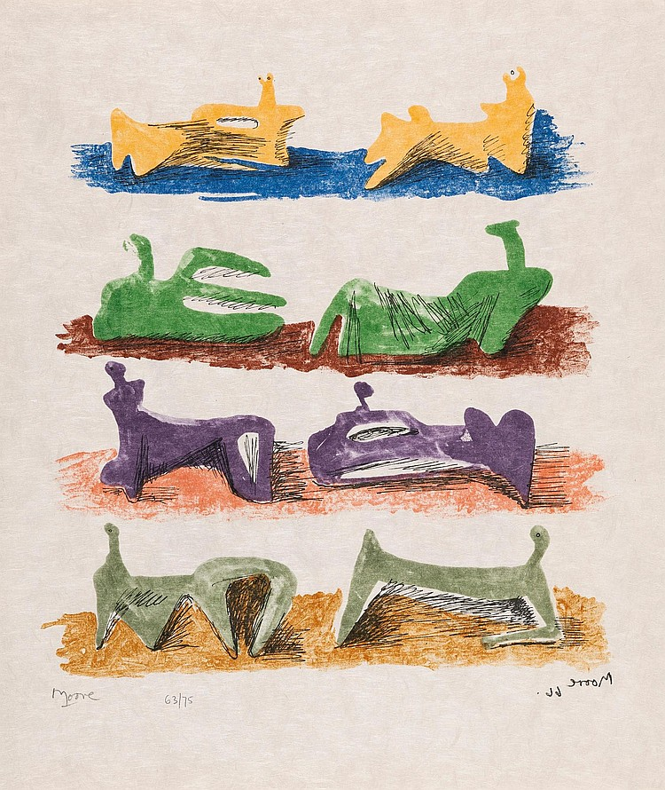 HENRY MOORE | Shelter Sketchbook (C. 80-86)