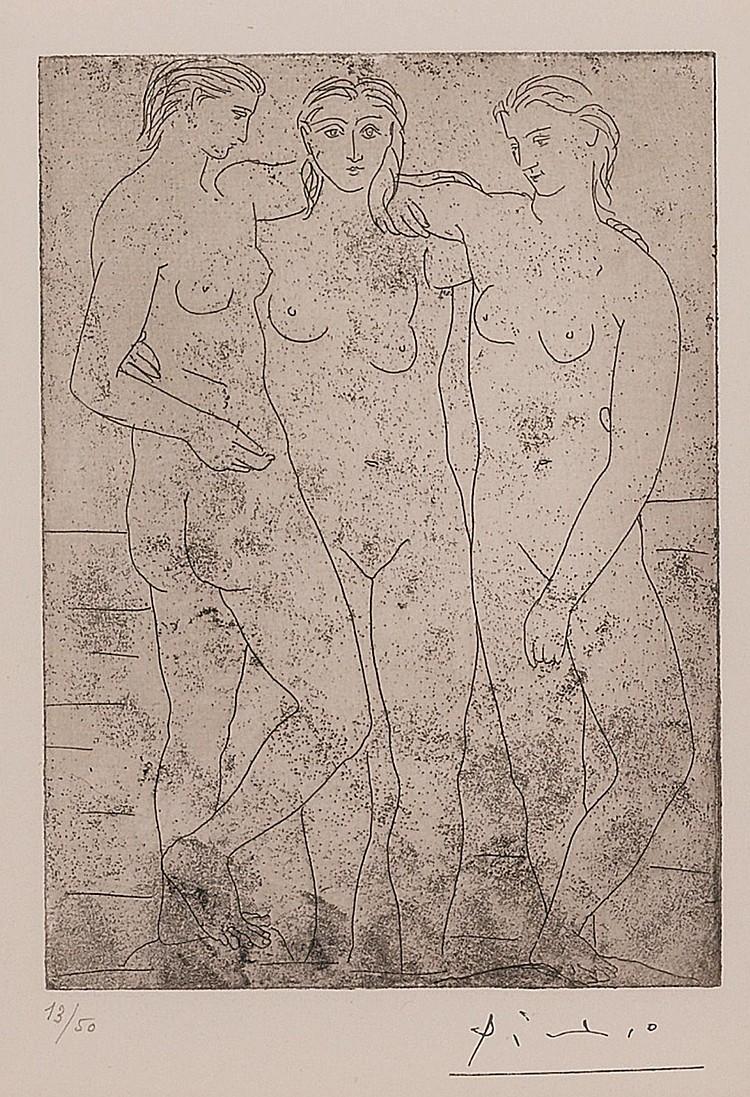 PABLO PICASSO | Les Trois Baigneuses. II (B. 61; Ba. 107)