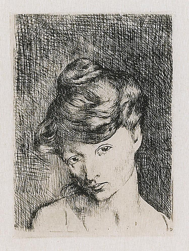 PABLO PICASSO | Tête de Femme: Madeleine (B. 2; Ba. 3)
