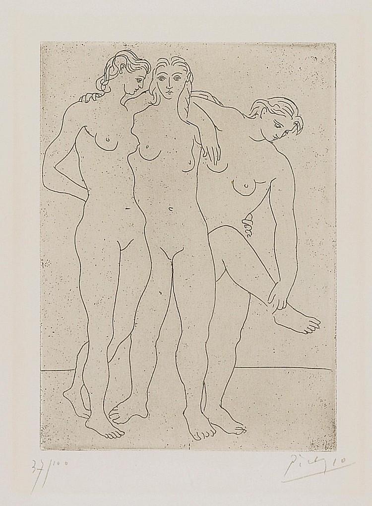 PABLO PICASSO | Les Trois Baigneuses. III (B. 62; Ba. 108)
