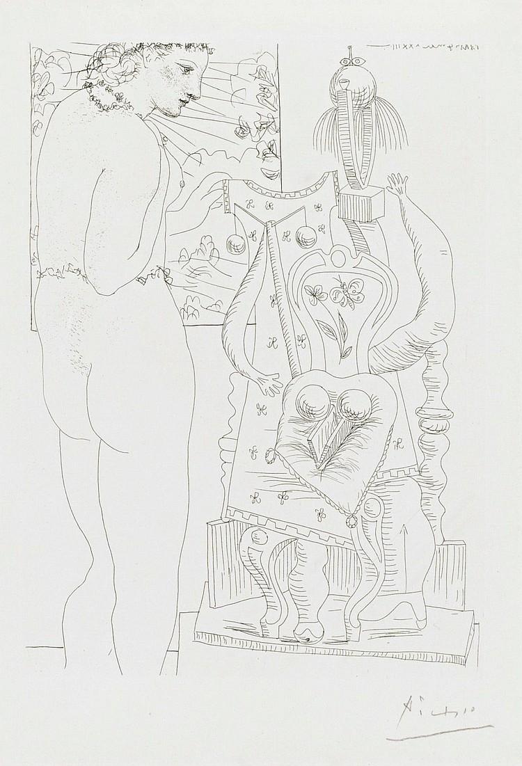 PABLO PICASSO | Marie-Thérèse considérant son effigie surréaliste sculptée(B. 187; Ba. 346)