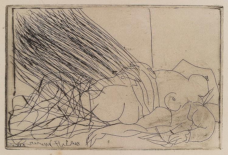 PABLO PICASSO   Femme nue couchée (B. 273; Ba. 403)