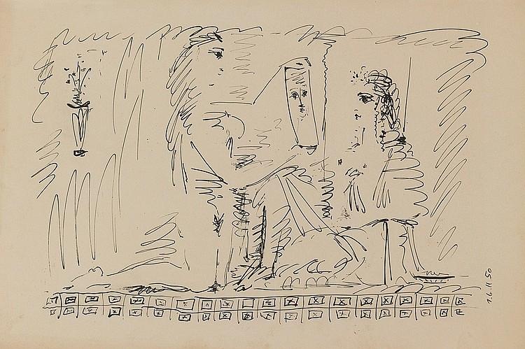 PABLO PICASSO | Femme au Miroir (M. 197)