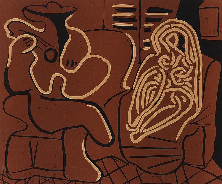 PABLO PICASSO | L'Aubade avec Femme dans un Fauteuil (Femme dans un Fauteuil et Guitariste) (B. 917; Ba. 1232)