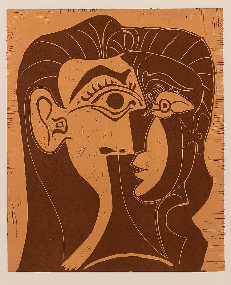 PABLO PICASSO | Portrait de Jacqueline de Face. I (Tête de Femme)(B. 1064; Ba. 1278)