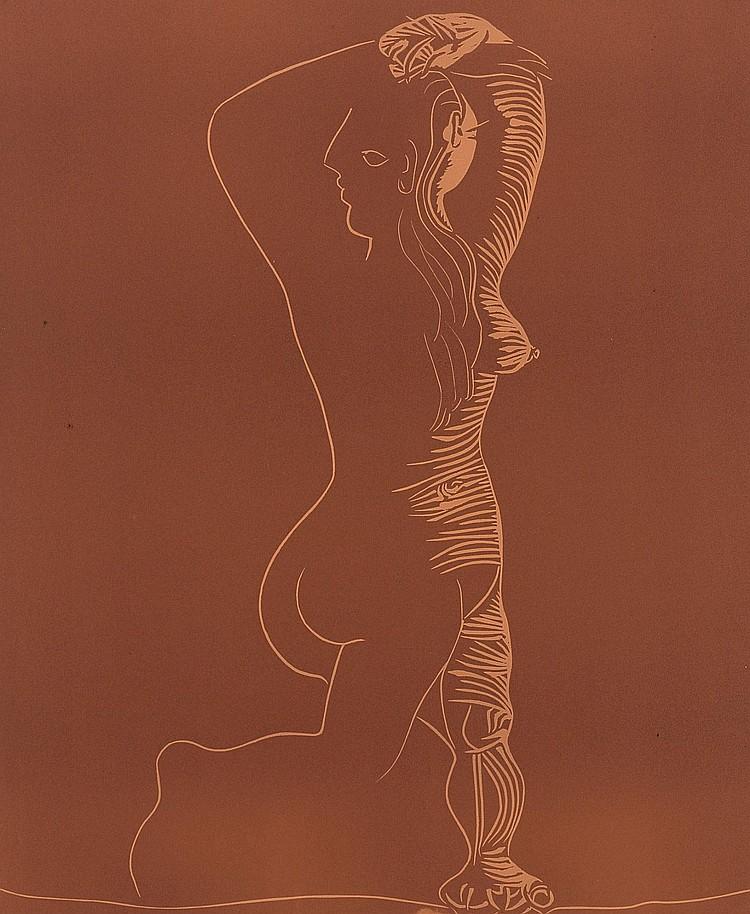 PABLO PICASSO | Grand nu dansant (Grand Nu de Femme)(B. 1085; Ba. 1309)