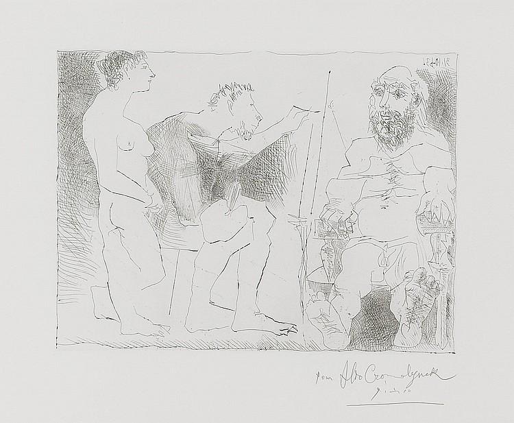 PABLO PICASSO | Peintre au Travail (B. 1117; Ba. 1111)