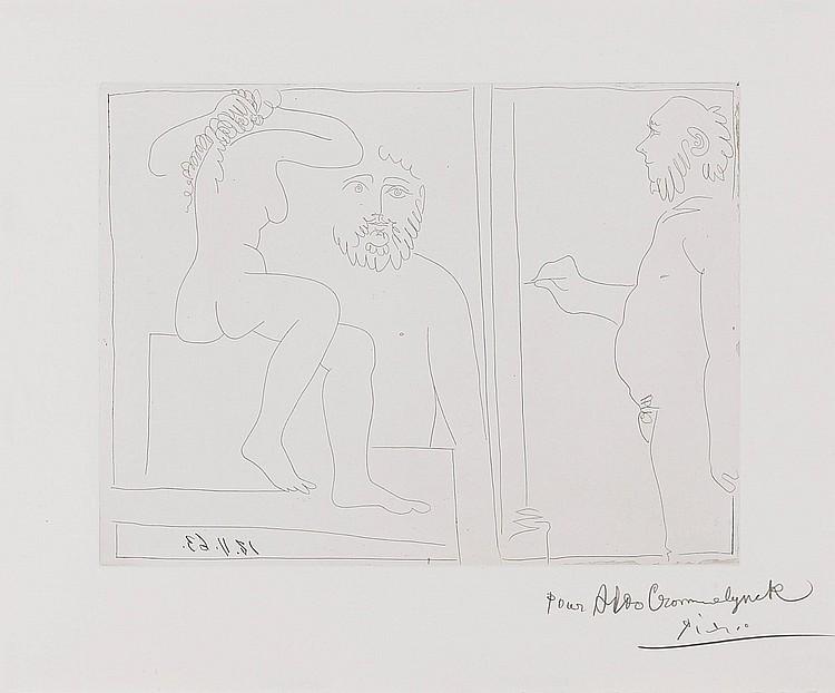 PABLO PICASSO | Peintre et Modèle(B. 1132; Ba. 1129)