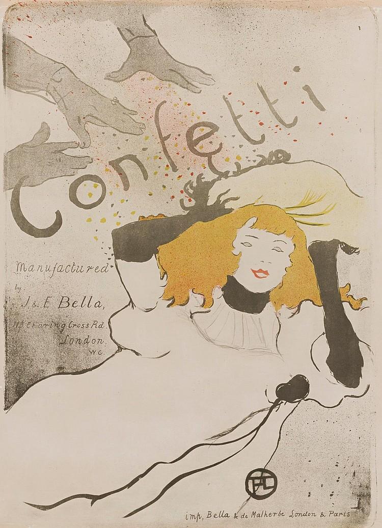 HENRI DE TOULOUSE-LAUTREC | Confetti (D. 352, Adr. 101, W. P13)