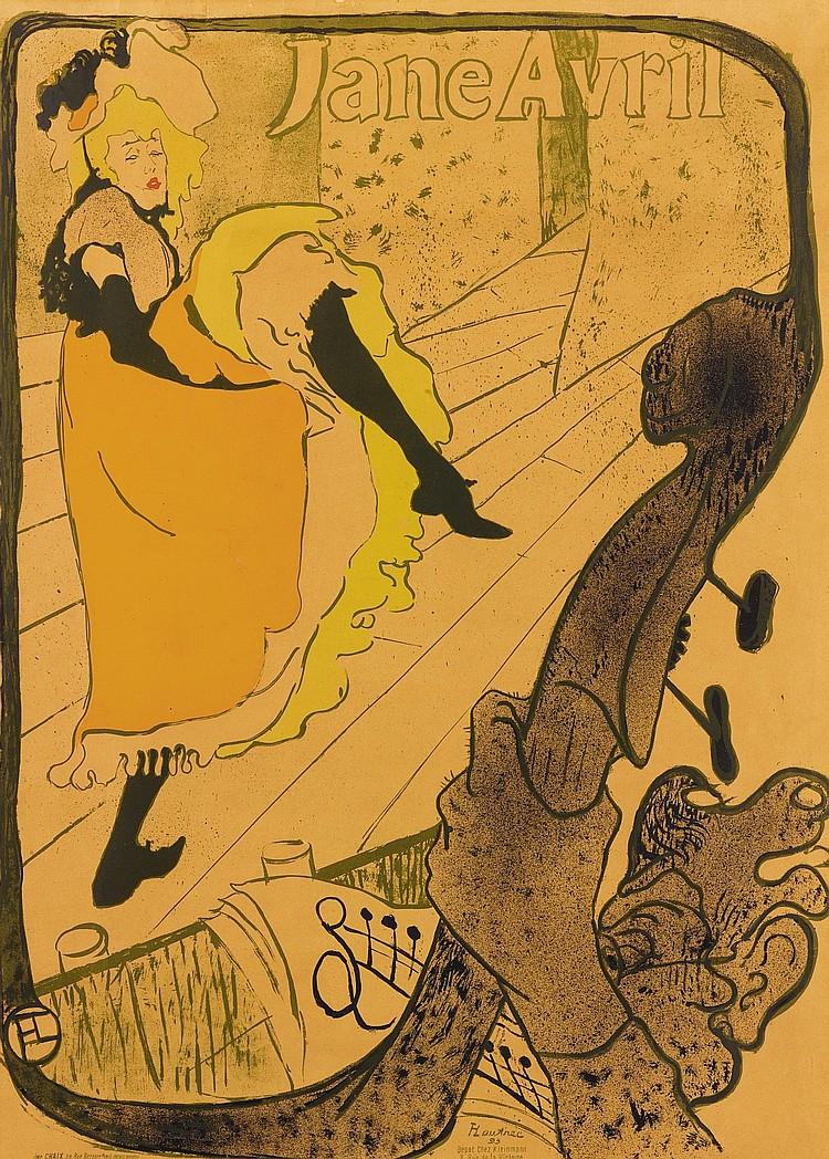 HENRI DE TOULOUSE-LAUTREC | Jane Avril (D. 345; A. 12; W. P6)