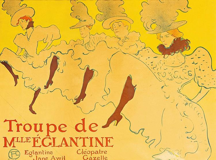 HENRI DE TOULOUSE-LAUTREC | La Troupe de Mademoiselle Eglantine (D. 361; Adr. 162; W. P21)