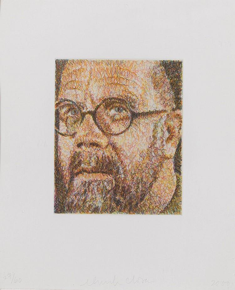CHUCK CLOSE   Self Portrait/Scribble/Etching