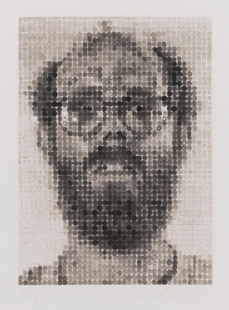 CHUCK CLOSE   Self Portrait (Pernotto 51)