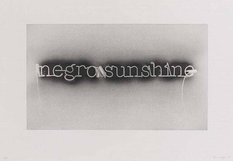 GLENN LIGON | Warm Broad Glow (reversed)