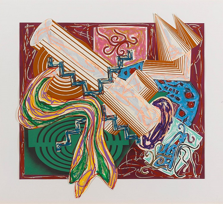 FRANK STELLA | Then Came a Stick and Beat the Dog
