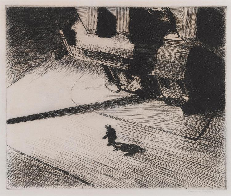 EDWARD HOPPER | Night Shadows (L. 82)