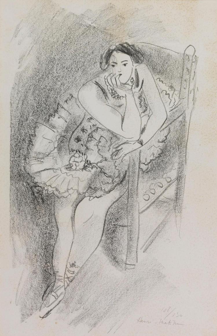 HENRI MATISSE | Danseuse au fauteuil en bois (D. 483)