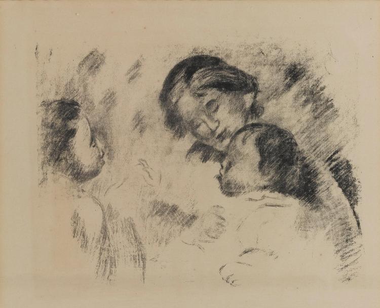 PIERRE-AUGUSTE RENOIR | Une mère et duexenfants (D./S. 54)