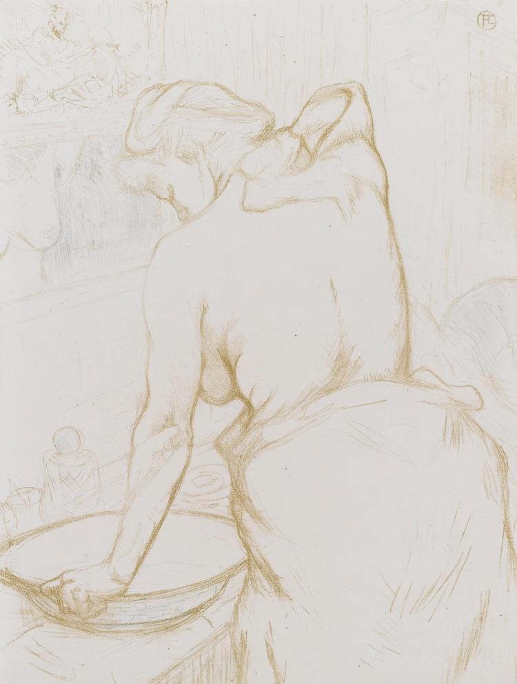 HENRI DE TOULOUSE-LAUTREC | Femme qui se lave - La toilette (D. 184; Adr. 176; W. 160)