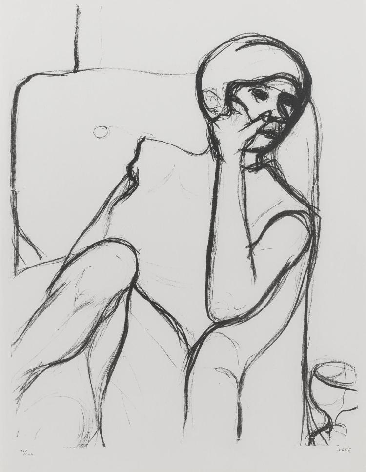 RICHARD DIEBENKORN | Seated woman in armchair