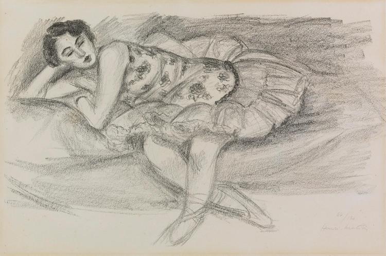 HENRI MATISSE | Danseuse au divan, pliée en deux (D. 489)