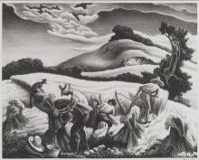 THOMAS HART BENTON | Cradling Wheat (Fath 27)
