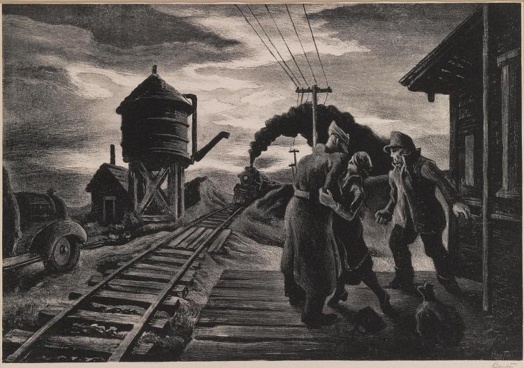 THOMAS HART BENTON | Morning Train (Soldier's Farewell) (F. 58)