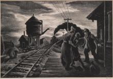 THOMAS HART BENTON | Morning Train (Soldier's Farewell) (F. 58)