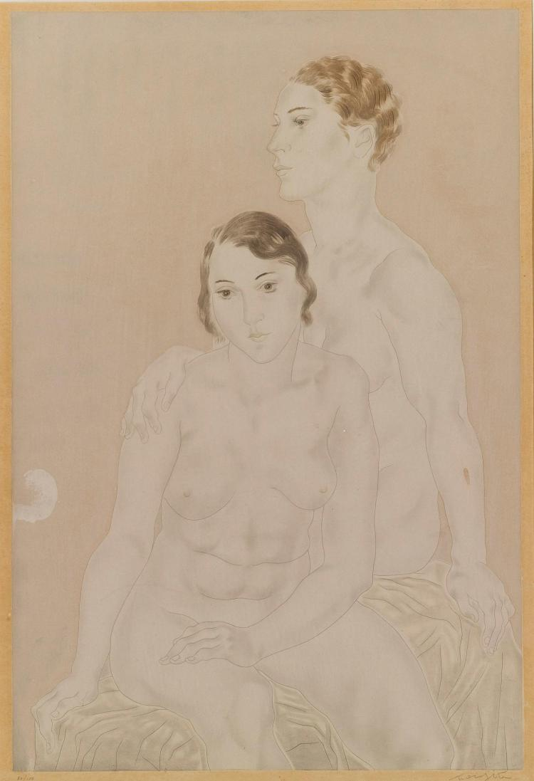 LÉONARD FOUJITA | Femmes: [Two Seated Nudes]