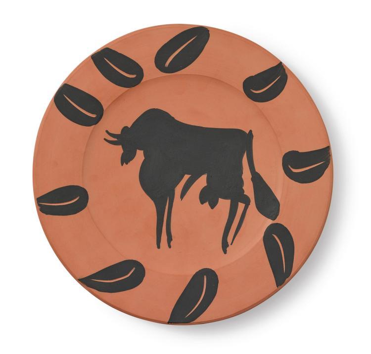 PABLO PICASSO | Taureau, marli aux feuilles (A. R. 394)