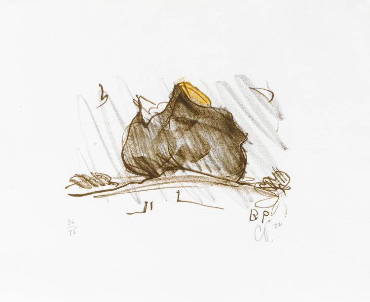 CLAES OLDENBURG | Colossal Baked Potato in Landscape (Axsom/Platzker 79)