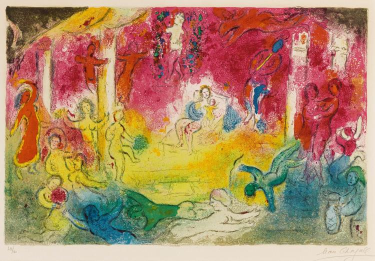 MARC CHAGALL | Temple and theHistory of Bacchus (M. 346)
