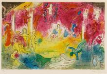 MARC CHAGALL | Temple and the History of Bacchus (M. 346)