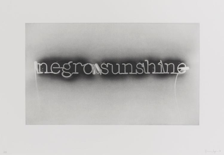 GLENN LIGON | Warm Broad Glow (reversed)