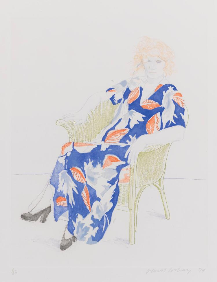 DAVID HOCKNEY | Celia in a Wicker Chair (Museum of Contemporary Art, Tokyo 158)