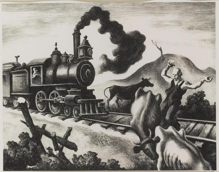 THOMAS HART BENTON | Slow Train Through Arkansas (F. 46)