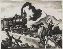 THOMAS HART BENTON | Slow Train Through Arkansas (F. 46)