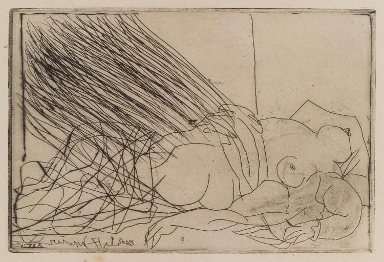 PABLO PICASSO | Femme nue couchée (B. 273; Ba. 403)