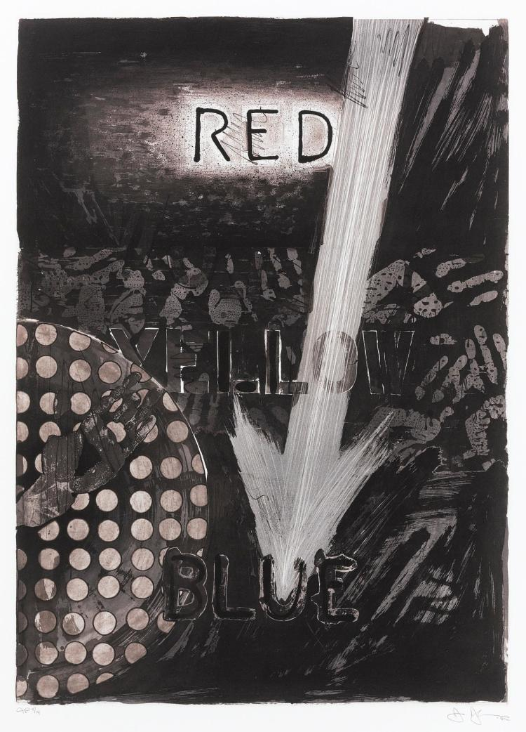 JASPER JOHNS | Untitled (Red); (Yellow); (Blue) (ULAE 224, 225, 226)