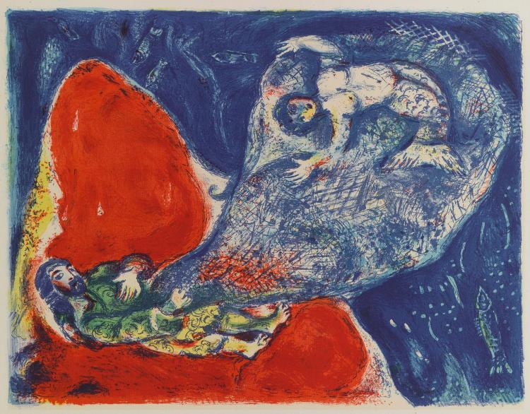 MARC CHAGALL | When Abdullah got the net ashore... (M. 43)