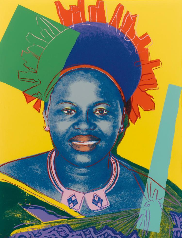 ANDY WARHOL | Queen Ntombi Twala (F. & S. II.348)